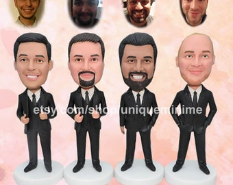 Groomsmen Gifts, Personalized dolls -Custom Figurine or Bobblehead dolls, Best Groomsman gifts, Wedding Party Gifts