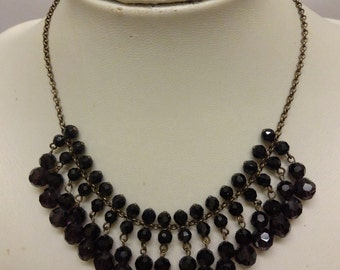 Vintage Art Deco Style Faceted Crystal Necklace