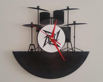 Metallica Drumkit clock
