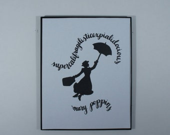 Mary Poppins Art Print // Supercalifragilisticexpialidocious // Disney Art Print