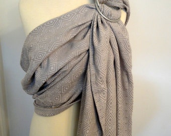 Ring sling Little Frog Grey Cube conversion, 100% Cotton - WCRS