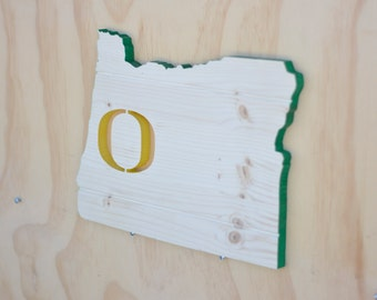 Oregon Ducks State Wood Cutout