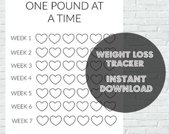 weight loss tracker print out