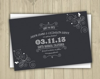 Save The Date Postcard Template | Wedding Save The Date Postcard | SD-004 |  Instant Download