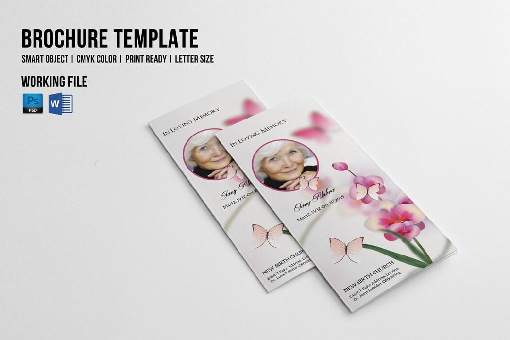 trifold funeral program template printable memorial program