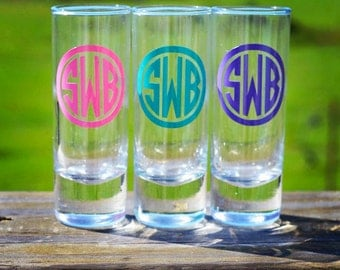 Monogram Shot Glass
