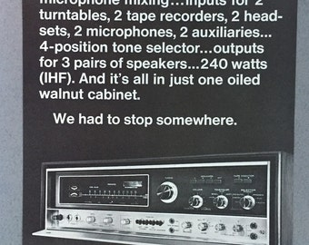 1971 Pioneer SX-9000 Print Ad - Stereo System
