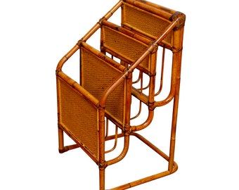 Bamboo Magazine Rack | Paper Sorter | Desk Accessories