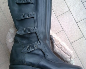 Boots leather boots. the Italian traffic police !!! 70 s', never worn.