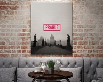 Prague City Poster, Prague City Print,  Prague Art Print, Prague Poster, Prague Home Decor, Printable Prague Wall Art, Czech Republic