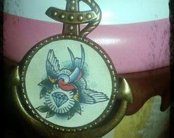 Necklace Rockabilly swallow
