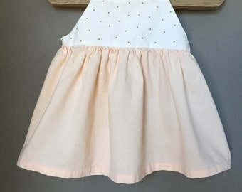 Babydoll Dress - Blush & Gold