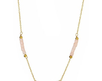 Think Pink! Tri-Bead Necklace