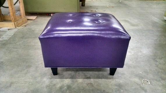 Purple ottoman coffee table square tufted coffee table for Purple coffee table