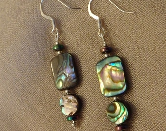 Double Abalone Earrings