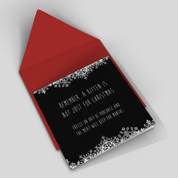 Funny christmas card - kitten - rude card