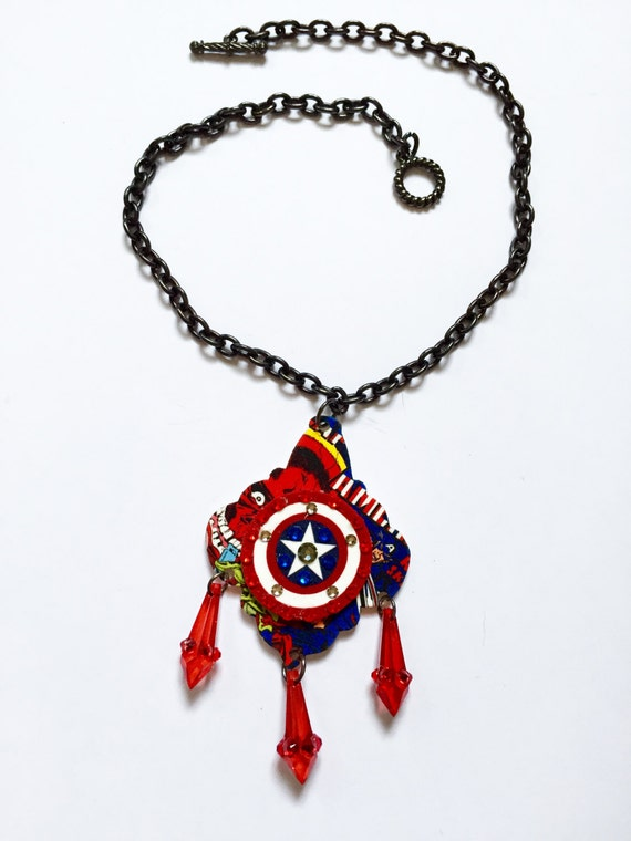 items similar to captain america necklace captain america