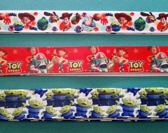 Toy Story Disney Grosgrain Ribbon! Woody, Buzz Lightyear, Jessie, Slinky, Bullseye, Alien, Lotso