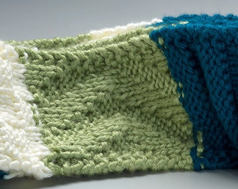 Surf and Turf Multi-Textured Knit Scarf