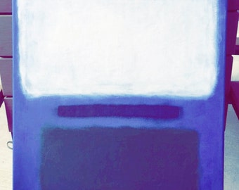 "16"" x 20"" Rothko Inspired Painting on Stretched Canvas"
