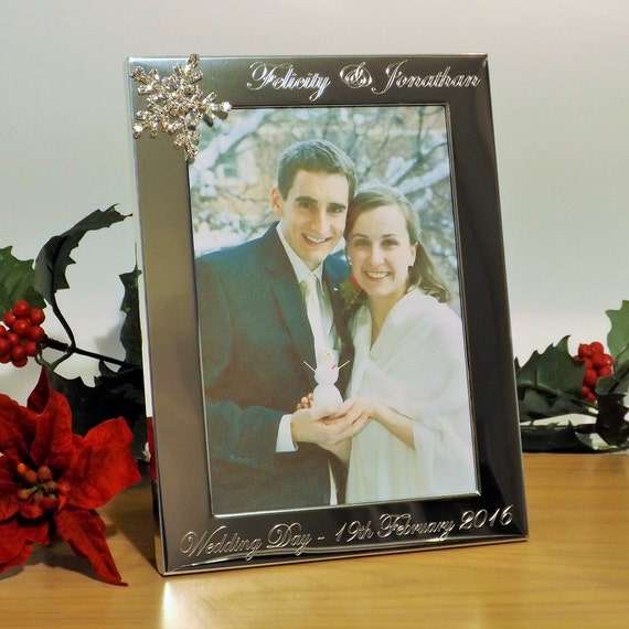 Engraved Silver Wedding Photo Frame With Diamante Crystals : Engraved Photo Frame ~ 7