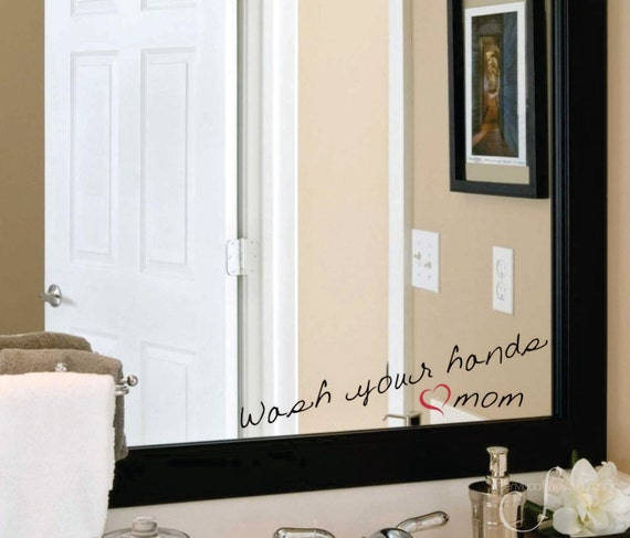 Wash Your Hands Love Mom Bathroom Home Decor Accents