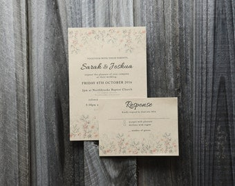 Rustic Wedding Invitation Set PRINTABLE
