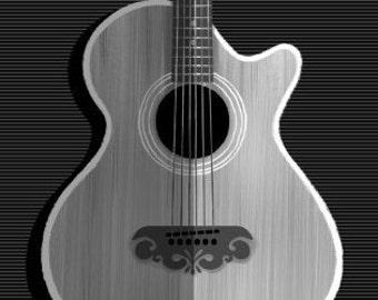 String Series : Guitar Print