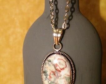 Mookaite Jasper Gemstone Pendant Necklace