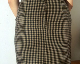 1960s, hound's-tooth wool skirt