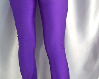 High waisted spandex leggings Purple