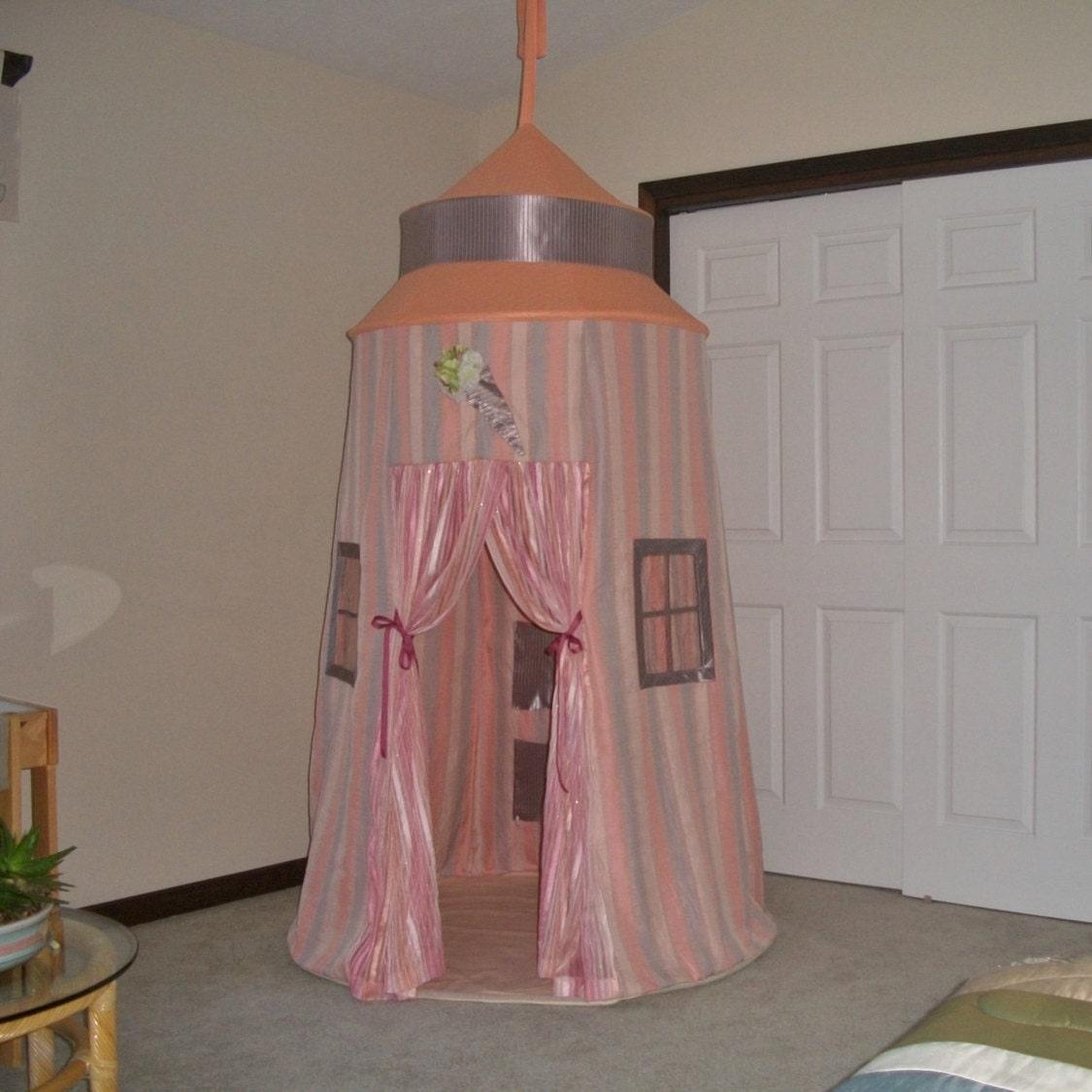 Dreamsicle princess castle girls room decor by suitedreamcreators - Castle room decore ...