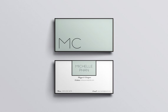 modern business card template simple clean business card