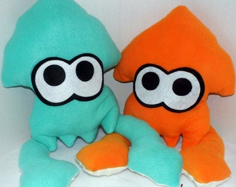 Squid Plush w/ Textured Tentacles inspired by Splatoon!