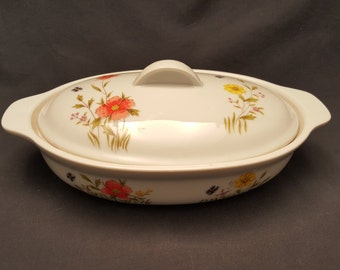 Vintage Country Flowers by Andrea Casserole Dish Oven to Table Cookware Floral
