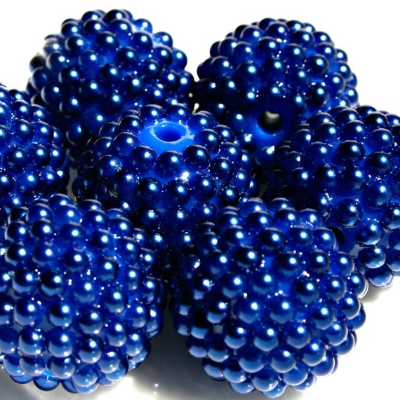 20mm Bead Beads: Royal Blue 20mm Chunky Bubblegum Beads Bubblegum Bubble Gum