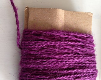 Jute Twine, Hand Dyed, Natural Twine, Craft Twine, Packaging Supply, Natural Dyed Yarn, Wrapping Yarn, Eco Friendly