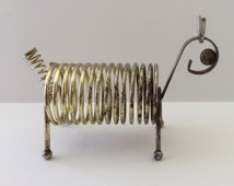 Mid Century Spring Wire Letter and Pen Holder