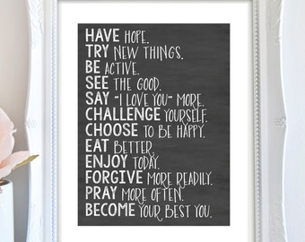 Inspiring Quote Artwork - New Years Resolution