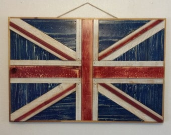 Rustic Union Jack Reclaimed Wood