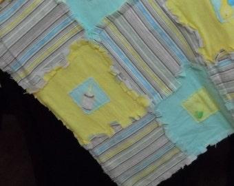 Rag baby blanket