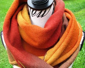 knit scarf kauni yarn handmade shawl  Kauni knitted stylish triangular scarf shawl of high quality male female scarf scarf unisex scarf boho