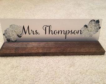 Office Desk Name, Job Title Name Plate, Teacher Gift!!