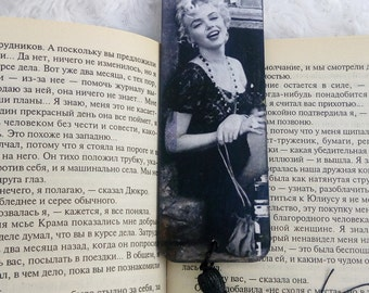 Mothers day gift for Mom Wooden bookmark Marilyn Monroe Decoupage bookmark Actors 60 Wood planner clip Page marker Book mark Teacher gift