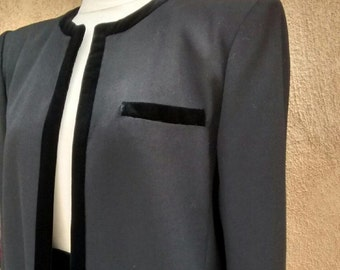 Valentino Suit NIGHT Label '90s Size Small