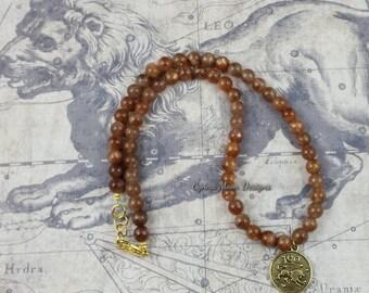 Zodiac Jewelry - Leo the Lion - Sunstone