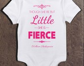 Baby Girl Onesie Little But Fierce Gift for Baby Girl New Born Girl Cute Baby Girl Onesies Funny Baby Onesies Baby Shower Gift Baby Gift