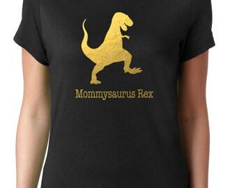 Mommysaurus Rex Metalic Gold Shirt Mother's Day Gift Mom To Be Gift Mommy Shirt Mom Dinosaur Shirt Cute Mom Shirt Mom Gift New Mom