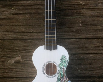 Hand-decorated Soprano Ukulele - BEAR