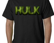 Men's Incredible Hulk Logo Shirt, Custom Super heros Tee